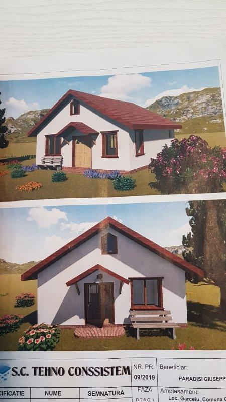 Teren intravilan la 12 km de Zalau cu proiect de casa